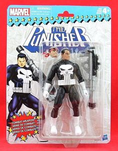 "The Punisher Marvel Legends Vintage Card 6"" Retro Action Figure Frank Castle #Hasbro"
