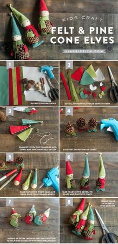 Pine Cone Christmas Ornaments - Million Ideas Club | Million Ideas Club