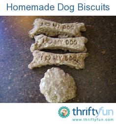 This guide is about homemade dog biscuits. Inexpensive and nutritious dog treats can be made at home.