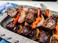 Marinated Beef Kabobs are flavorful, tender, and easy to customize! Includes the bestt type of beef for your kabobs and the best beef marinade! Marinated Beef Kabobs, Kabob Marinade, Beef Marinade, Steak Kabobs, Kebabs, Skewers, Beef Kabob Recipes, Beef Recipes For Dinner, Grilling Recipes