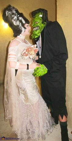 Frankenstein and His Bride - Homemade Couples Costume