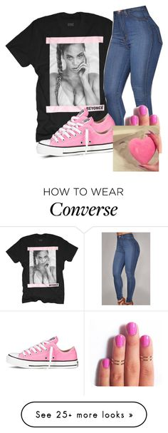 """.."" by corasenat on Polyvore featuring Converse, women's clothing, women, female, woman, misses and juniors"