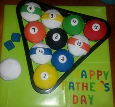 Father's  day  pool ball cupcakes