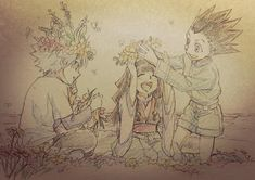 Hunter x hunter, Gon, Killua, Alluka, illustration, manga / anime
