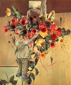 Catalina Schliebener, Flowers 4, 19 x 25 cm, collage de libros, 2011    Bisagra arte contemporaneo