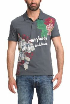 "Desigual men's Kobe polo shirt. Are you ready to shout ""Sex, Fun and Love for Everybody"" to the whole world"