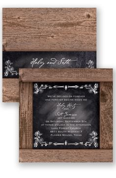 Rustic Chalkboard Wedding Invitation by David's Bridal
