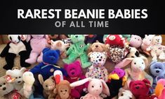 Which are the most expensive beanie babies in the world? We've put together this list of the 20 rarest beanie babies, and their rough value in Valuable Beanie Babies, Beanie Babies Value, Rare Beanie Babies, Most Expensive Beanie Babies, Beanie Baby Prices, Swing Tags, Beanie Boos, Old Toys, Getting Organized