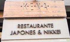 Kena en Madrid: Letrero del restaurante