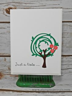 by Georgia: Better Together, Swirly Scribbles thinlits, Tree punch - all from Stampin' Up!