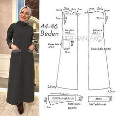 DWPALF - Discover what people are looking for Muslim Fashion, Hijab Fashion, Abaya Pattern, Diy Leather Projects, Fashion Design Sketchbook, Make Your Own Dress, Dress Making Patterns, Muslim Dress, Moda Emo