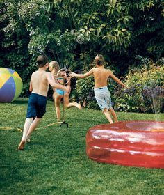 Backyard party fun for adults and kids. Provide fun activities to keep the kids busy (like blowing bubbles, pool noodles or beach balls, or a sprinkler or Slip 'n Slide, or even better...buy some disposable cameras and get the kids to serve as official party photographers) and the adults can kick back with the sangria or beer!!
