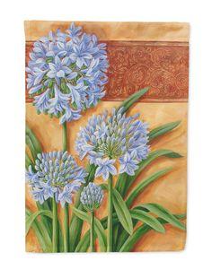 Agapanthus by Judith Yates Flag Garden Size JYJ0072GF