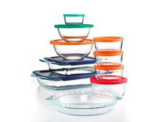 Pyrex Food Storage Containers, 19 Piece With Lids