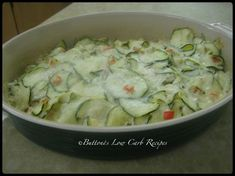 This cheesy delicious side dish creation of Scalloped Zucchini was so sinfully rich and tasty!  I'm thinking this would also be good with some cooked chicken or ground pork added before bakin…