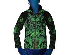 UV Jacke original von Space Tribe Psy Goa Hippie Party Trance Hoodie Neu N7