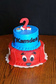 Clifford the Big Red Dog birthday cake