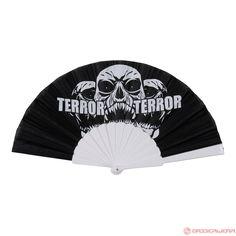 Terror Fan Lightning Skull (Black/White) | 840-W3-050