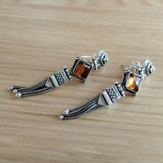 Heirloom Amber Silver Earrings Handmade Silver, Sterling Silver Earrings, Amber, Pairs, Bracelets, Collection, Jewelry, Fashion, Moda