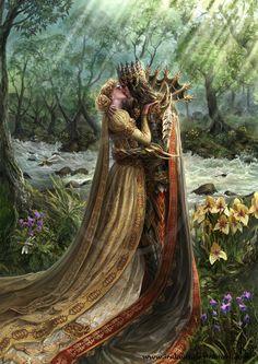 Prosephine & Hades in Gothic fantasy style?/ Passion Book Illustration by Irulana Fantasy Love, Dark Fantasy Art, Fantasy Artwork, Fantasy World, Character Inspiration, Character Art, Fantasy Couples, Elfa, Creation Art
