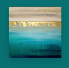 """Art, Acrylic Painting,Large Original Abstract, Acrylic Paintings on Canvas by Ora Birenbaum Titled: Into the Abyss 5 40x40x1.5"""""""