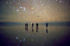 Uyuni salt lake @ night Bolivia