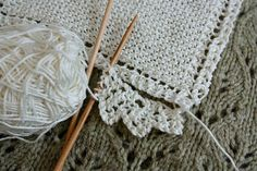 Washcloth -- love the lace edging, simple and small.
