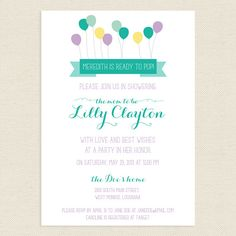 20 5x7 Ready to Pop Baby shower invitation by PaperLeigh on Etsy