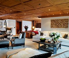 Overlooking the Swiss Alps The Alpina Gstaad hotel offers exclusive accommodation ranging from deluxe suites to luxury chalets. Gstaad Switzerland, Switzerland Hotels, Higher Design, Mountain Resort, Interior Design Living Room, Chalet Interior, Furniture Design, Home Decor, Ski