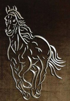 I'd love to do something like this with the pictures i've taken Thread Painting, Thread Art, Arte Linear, Nail String Art, String Art Patterns, Horse Silhouette, Card Patterns, Art Model, Horse Art