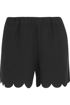 Black crepe Pull on 100% polyester Machine wash Imported