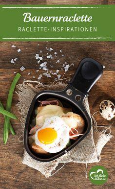 Ein rustikales Raclette Pfänncehn mit Spiegelei - wohl bekommt's!