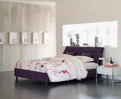 Trends in modern bedroom furniture by designers of Flou are inspired by classical models. Unique Furniture, Contemporary Furniture, Home Bedroom, Bedroom Furniture, Bedrooms, Bedroom Ideas, Italian Furniture Brands, Bed Lights, Bed Storage