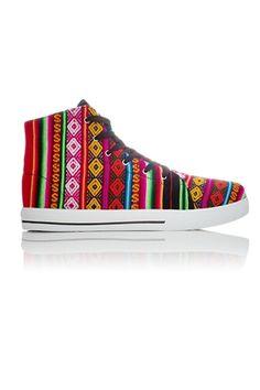 Spectrum Vegan Sneaker - Black from Inkkas at StriveGreen