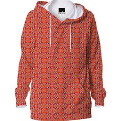 Red Pattern Hoodie from Print All Over Me