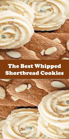 The Best Whipped Shortbread Cookies Whipped Shortbread Cookies, Shortbread Recipes, Baking Recipes, Cookie Recipes, Dessert Recipes, Cake Mix Cookies, Yummy Cookies, Just Desserts, Delicious Desserts