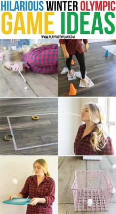 Fun Winter Olympics party games that are great for kids or for adults! Plan an entire party with an Olympic theme and use these to entertain everyone all night long!