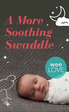 Zen Swaddle's lightly weighted areas apply gentle pressure on your baby's sides and center, mimicking the comfort of being held.   weeLove on www.weeSpring.com