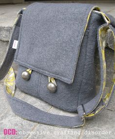 Messenger Bags ocd: obsessive crafting disorder: tutorials & patterns