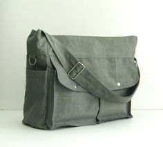 Sale Grey Water-Resistant Nylon Diaper Bag Shoulder by tippythai