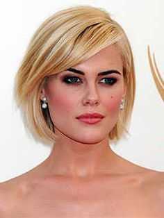 Short Haircuts for Long Shaped Faces: Razor Cut Bob, Rachael Taylor