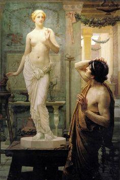 Pygmalion and Galatea (1886). Ernest Normand (1859–1923).