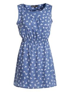 Mela Blue Poodle Print Dress   Now £10.00