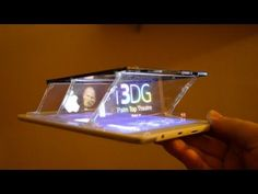 Design For Turning Smartphones & Tablets Into a 3D Hologram Projector Using 3 CD Jewel Cases