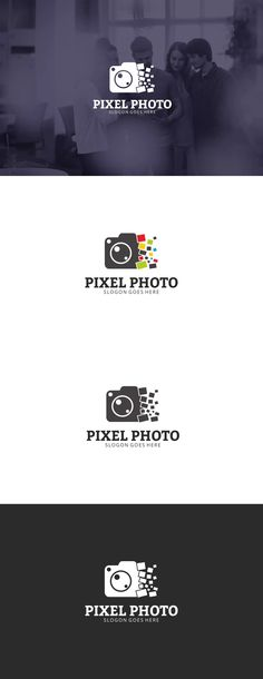 Photo Pixel Logo Template AI, EPS