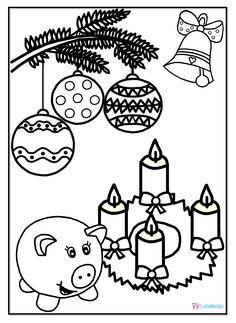 Advent - omalovánka