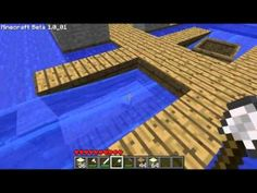 Minecraft boat dock tutorial - YouTube