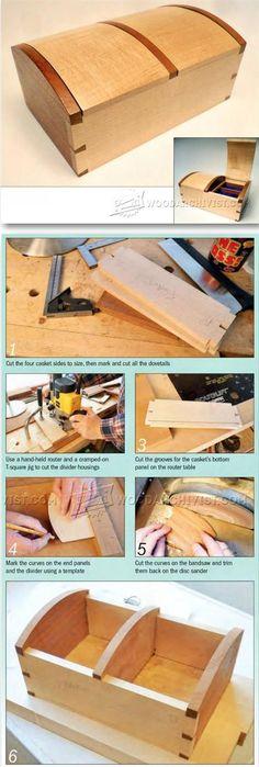 Jewellery Casket Plans - Woodworking Plans and Projects   WoodArchivist.com