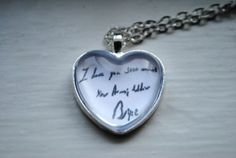 Boot Camp Letter Necklace by MeAndmyJoe on Etsy, $12.50