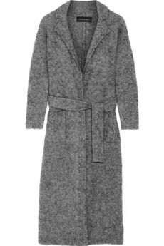 By Malene Birger Fulana belted wool and mohair-blend coat | NET-A-PORTER